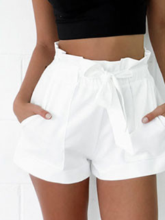 Euro A-Line Solid Shorts Ladies Shorts