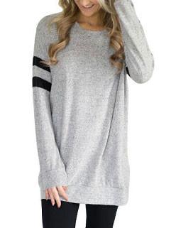 Hot Sale Euro Striped Long Sleeve T-shirt