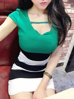 Striped Patchwork Bodycon Short Sleeve Mini Dresses