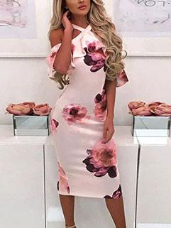 Hot Selling Floral Off Shoulder Dresses