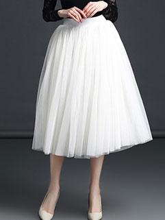 Korean Design Gauze Pleated Fluffy Skirt