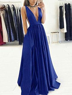 Sexy Solid Color Maxi Dresses
