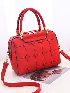 Sweet Temperament Solid Square Shoulder Bag