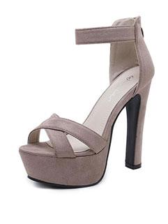 Fashion Open Toe Zipper High Platforms