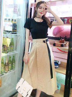 Fashion Color Block Ladies Suit