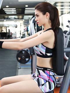 Sporty Bodybuilding Striped Women