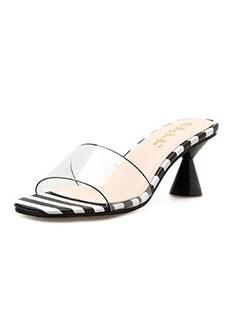 Fashion Striped Square Toe Cozy Slippers