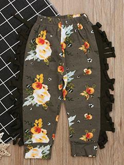 Printed Tassels Casual Girls Pants