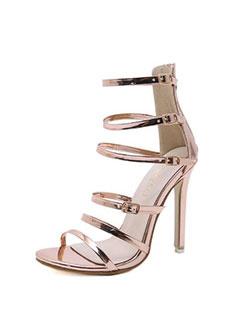 Roma Style Thin Heel Strappy Fashion Women Pumps