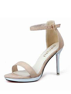 Fashion Thin Heel Simple Women Sandals