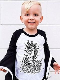 Fashion Color Block Long Sleeve Baby T-Shirt