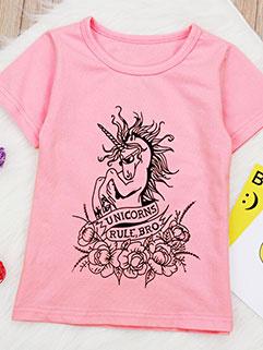 Euro Printed Short Sleeve Fashion Baby T-Shirt