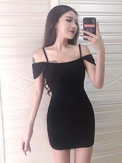 Night Club Off Shoulder Bodycon Dresses