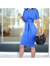 Elegant Solid Office Ladies Dresses