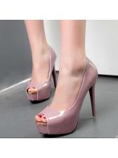 Lady Peep-Toe Fashion Platforms Pumps
