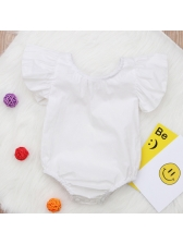 Euro Solid Flare Sleeve Infant Romper