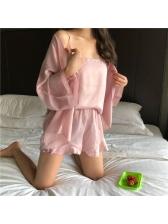 Cozy Straps Ruffles Female Suit
