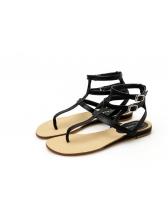 Simple Design Buckle Belt Roma Sandals