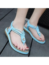 Fashion Round Toe Comfortable Flats Sandals