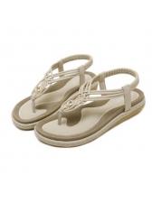 Fashion Round Toe Comfortable Flats Sandals