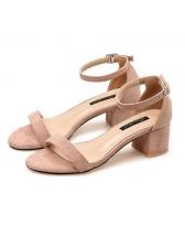 Korean Chunky Heel Simple Women Sandals