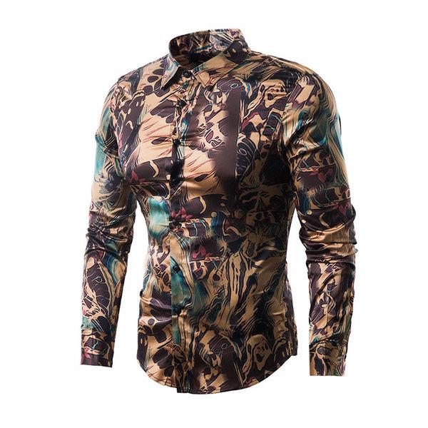 Hot Sale Vintage Printing Long Sleeve Shirts