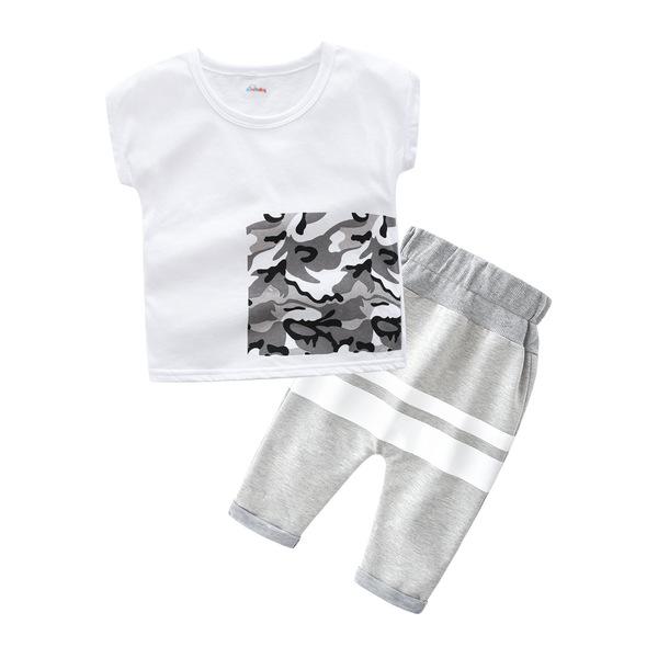 Summer Round Neck Fashion Boy Sets
