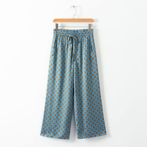 New Arrival Printed Wide Leg Pants