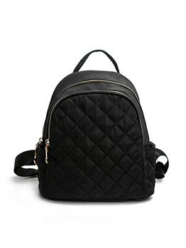 Trendy Geometric Print Black Backpacks