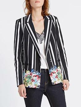 New Arrival Striped Printed Women Blazers