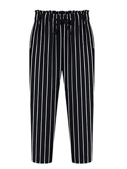 Striped Plus Size Casual Women Pants