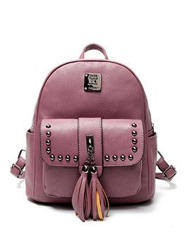 Fashion Rivet Design Tassels PU Backpacks