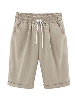 Summer Elastic Solid Matching Half Shorts