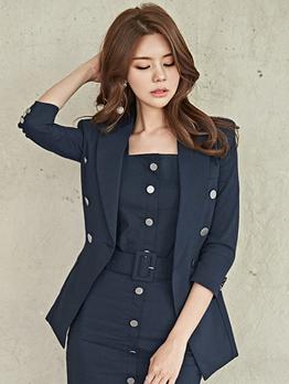 Formal Solid Cardigan Women Blazers