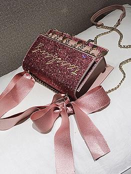 Korean Fashion Letter Pendant Crossbody Bag