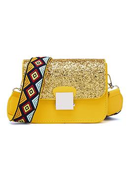 Korean Fashion Sequined Printed Belt Bag