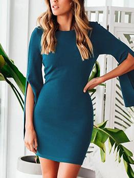 Elegant Simple Pure Color Dresses