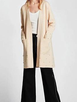 Hot Sale Fashion Beading Knitting Coat
