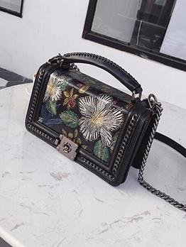 National Style Flower Chain Crossbody Bag