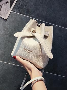 Simple Design Letter Bucket Bags