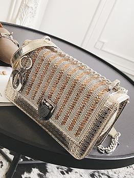 Easy Matching Rhinestone Design Shoulder Bags