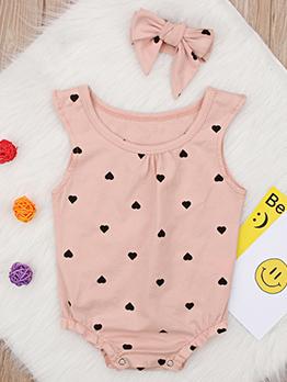Summer Polka Dots Baby Romper