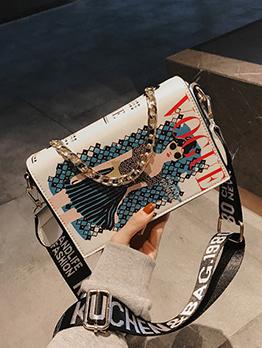 Fashion Graffiti Letter Square Crossbody Bags
