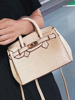 Euro Crocodile grain Solid Shoulder Bags