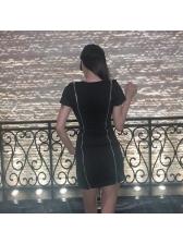 Night Club Zipper Design Bodycon Dresses