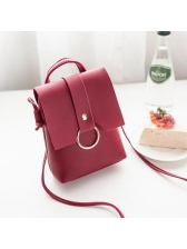 Korean Casual Simple Design Crossbody Phone Bags