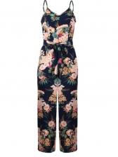 Sexy Floral Slit Strap Jumpsuits