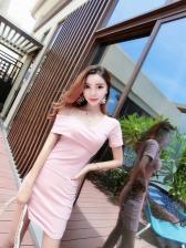 Sexy One Shoulder Irregular Bodycon Dresses