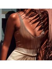 Euro Sleeveless Solid Sexy Female Bodysuit