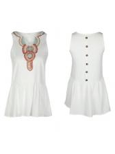 Summer Characteristic Printing Sleeveless Dresses
